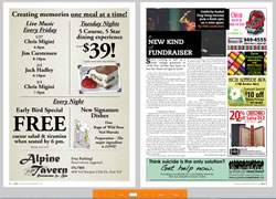 newspaper page flip interface