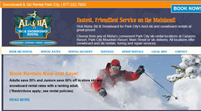 Park City Ski Rentals - aloha ski and snowboard shop